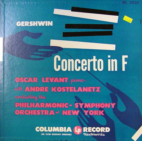 """Gershwin: Concerto In F Vinyl 12"""""""