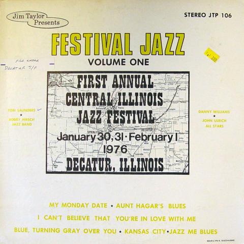 """Festival Jazz: Volume One Vinyl 12"""""""