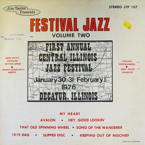 "Festival Jazz: Volume Two Vinyl 12"""