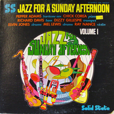 """Jazz For A Sunday Afternoon: Volume 1 Vinyl 12"""""""