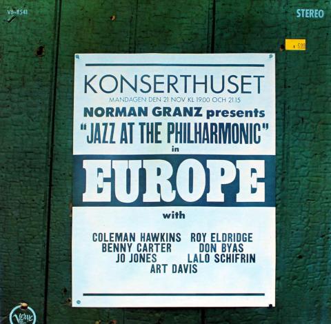 "Norman Granz Presents: ""Jazz At The Philharmonic"" In Europe Vinyl 12"""