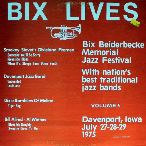 """Bix Lives: Volume 6, 1975 Vinyl 12"""""""