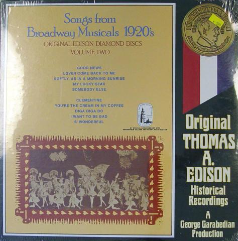"Songs From Broadway Musicals 1920's Vinyl 12"""