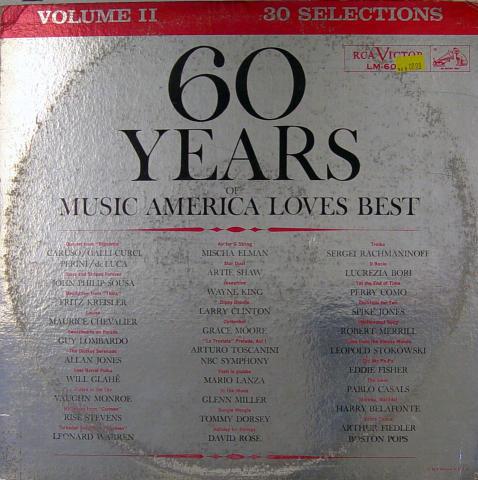 """60 Years of (Music America Loves Best) Volume II Vinyl 12"""""""