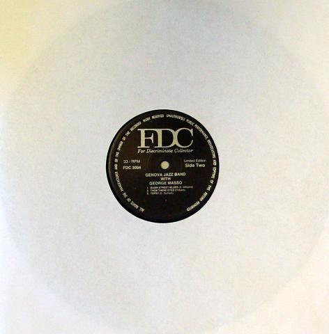 "Genova Jazz Band With George Masso Vinyl 12"""