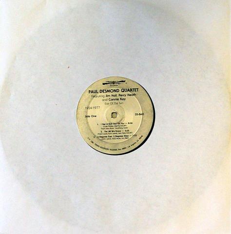 """Paul Desmond Quartet Vinyl 12"""""""