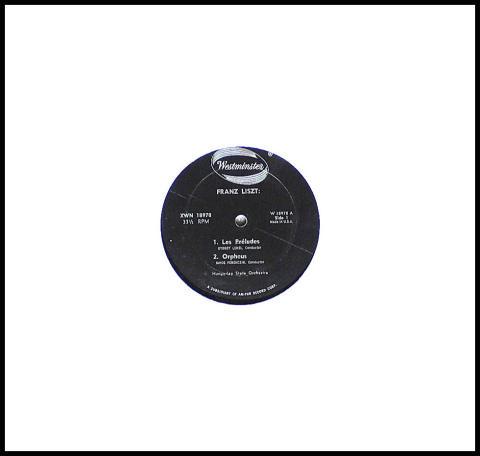 """Franz Liszt: Les Preludes / Orpheus Vinyl 12"""""""