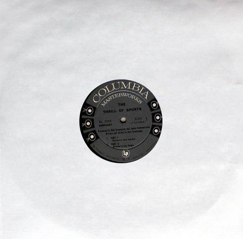 "The Thrill Of Sports Vinyl 12"""