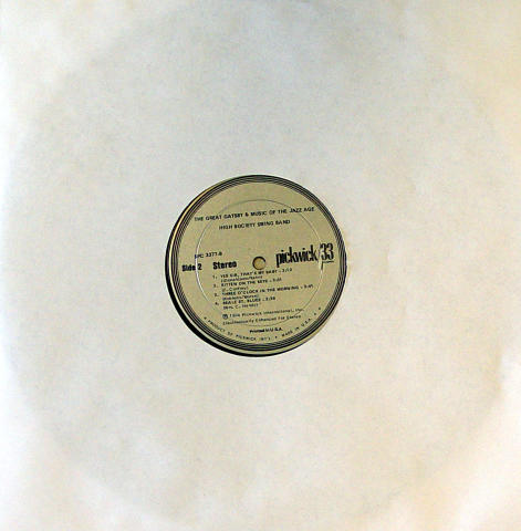 "High Society Swing Band Vinyl 12"""