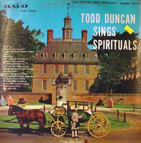 "Todd Duncan Vinyl 12"""