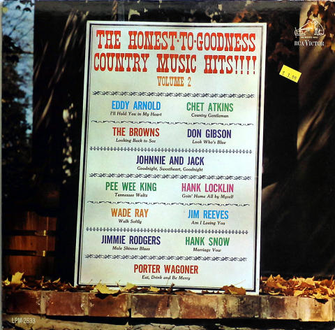 """The Honest-To-Goodness Country Music Hits Vol. 2 Vinyl 12"""""""