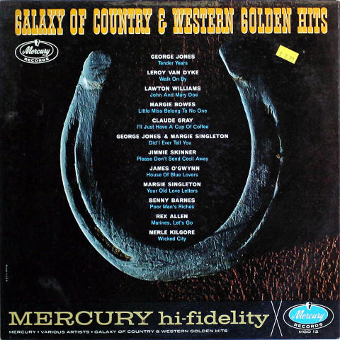 """Galaxy Of Country & Western Golden Hits Vinyl 12"""""""