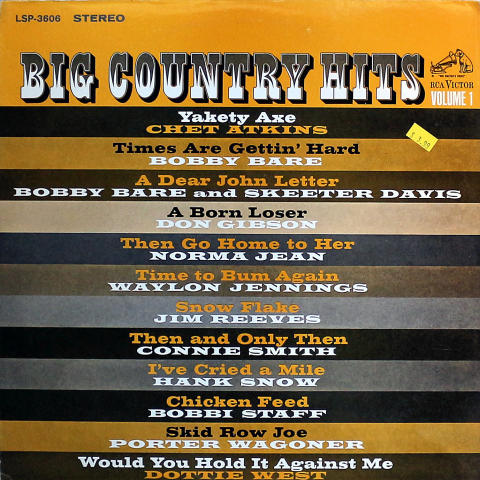Big Country Hits Volume 1 Vinyl 12""