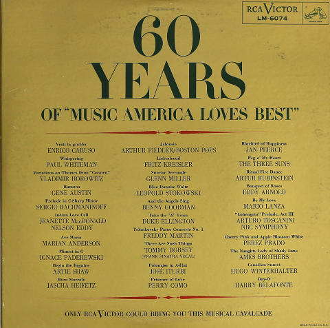 60 Years of (Music America Loves Best) Volume I Vinyl 12""
