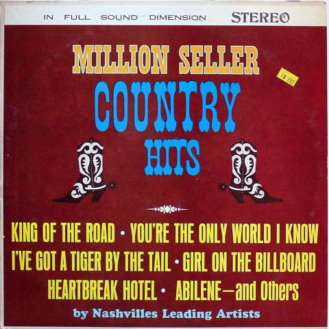 """Million Seller Country Hits Vinyl 12"""""""