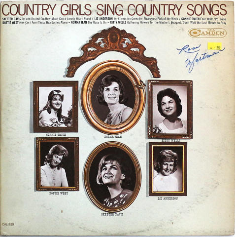 """Country Girls Sing Country Songs Vinyl 12"""""""