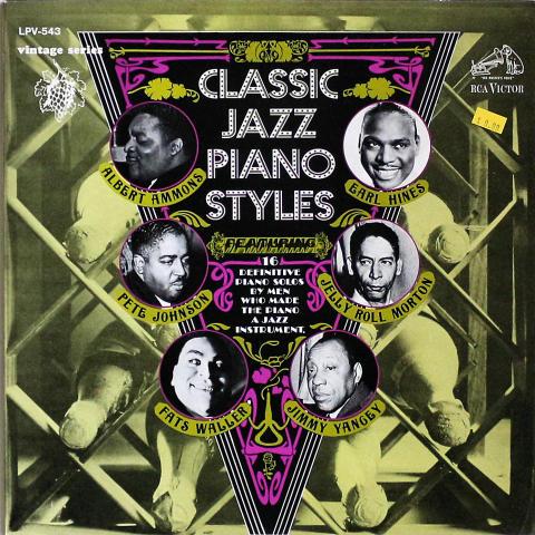 "Classic Jazz Piano Styles Vinyl 12"""