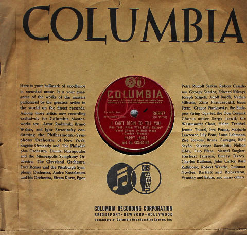 Harry James & His Orchestra 78