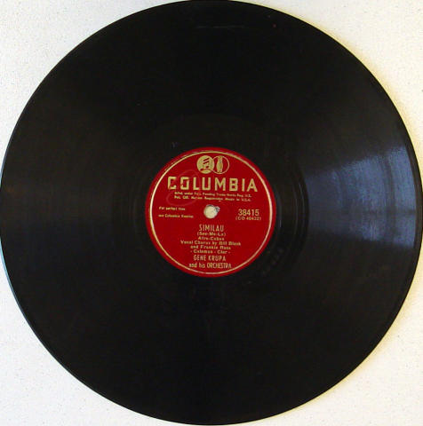 Gene Krupa / Bill Black / Frankie Ross 78