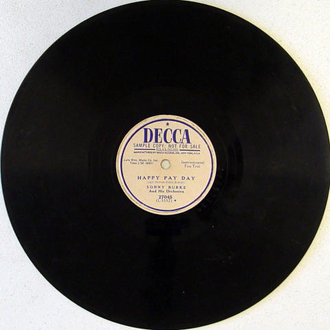 Sonny Burke And His Orchestra 78