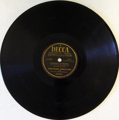 Carmen Miranda / Andrew Sisters 78