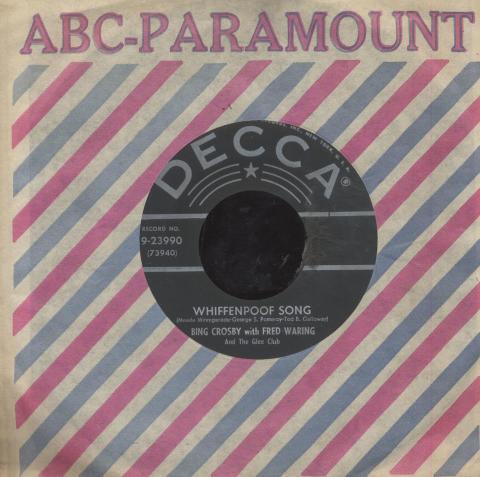 """Bing Crosby / Fred Waring Vinyl 7"""" (Used)"""