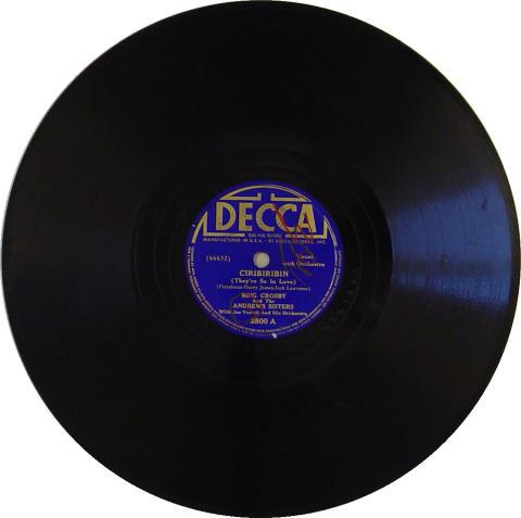 Bing Crosby & Andrews Sisters 78