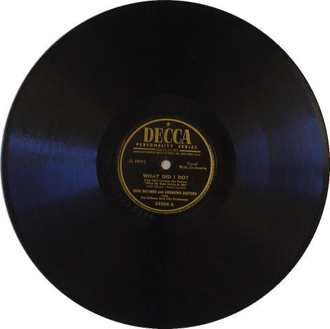 Dick Haymes & Andrews Sisters 78