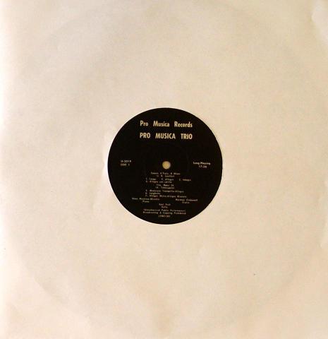 """Pro Musica Trio Vinyl 12"""""""