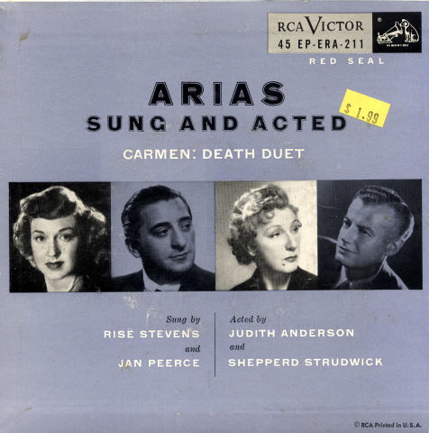 """Rise Stevens Vinyl 7"""" (Used)"""