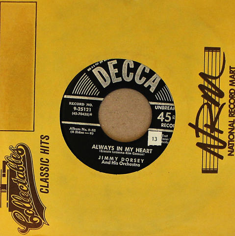 "Jimmy Dorsey And His Orchestra Vinyl 7"" (Used)"