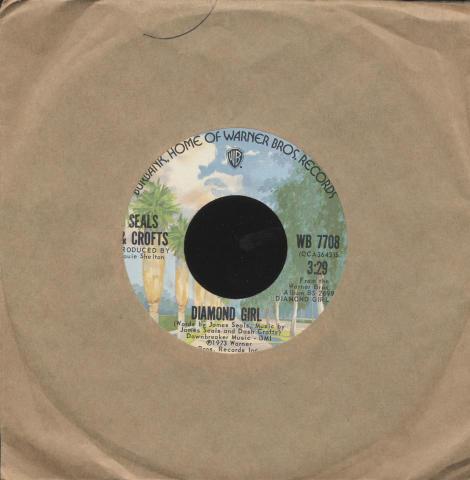 "Seals & Crofts Vinyl 7"" (Used)"