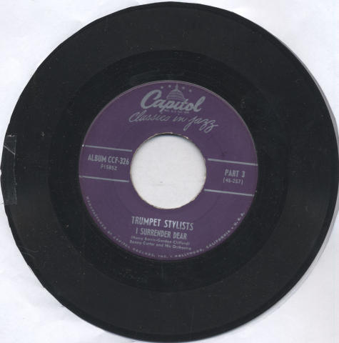 """Benny Carter And His Orchestra Vinyl 7"""" (Used)"""