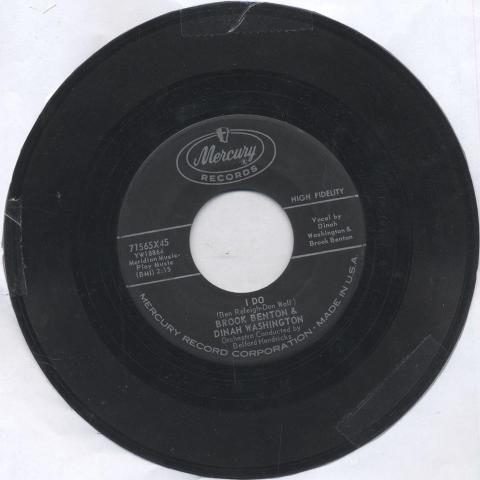 "Brook Benton & Dinah Washington Vinyl 7"" (Used)"