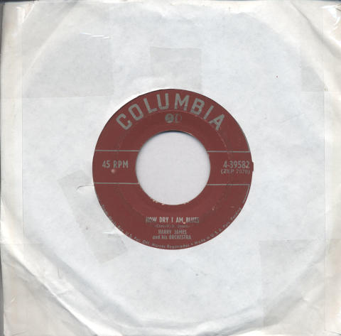 """Harry James & His Orchestra Vinyl 7"""" (Used)"""