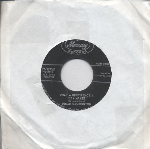 "Dinah Washington Vinyl 7"" (Used)"
