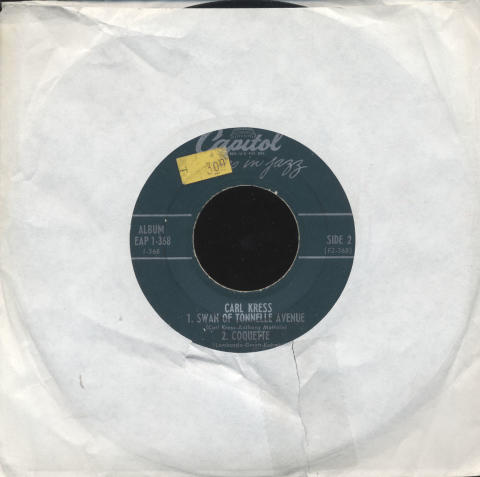 """Carl Kress Vinyl 7"""" (Used)"""