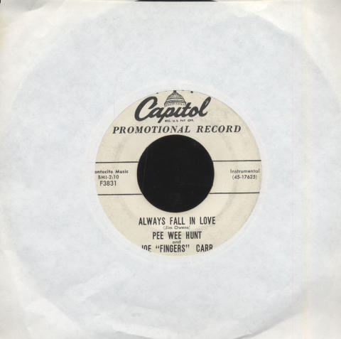 """Pee Wee Hunt Vinyl 7"""" (Used)"""