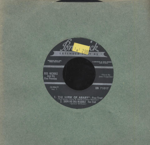 """Red Nichols and His Five Pennies Vinyl 7"""" (Used)"""