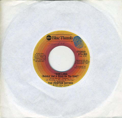 """The Pointer Sisters Vinyl 7"""" (Used)"""