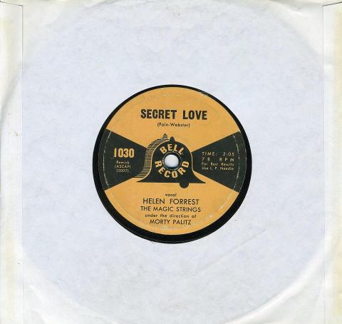 """Helen Forrest / Charlie De Forest Vinyl 7"""" (Used)"""