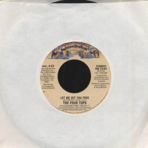 """The Four Tops Vinyl 7"""" (Used)"""