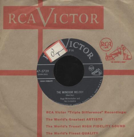"Hugo Winterhalter and His Orchestra Vinyl 7"" (Used)"