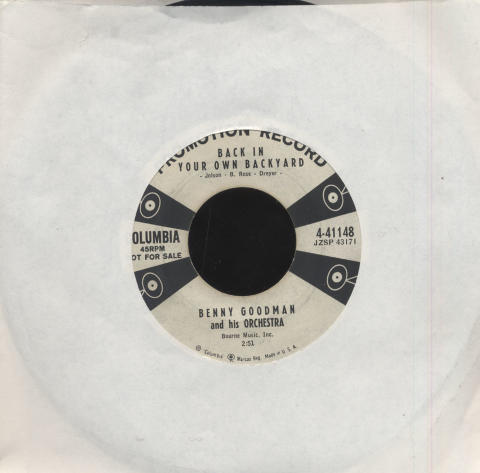 """Benny Goodman and His Orchestra Vinyl 7"""" (Used)"""