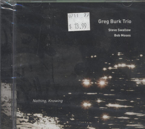 Greg Burk Trio CD