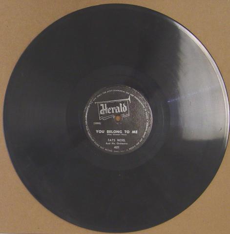 """Fats Noel And His Orchestra Vinyl 12"""""""