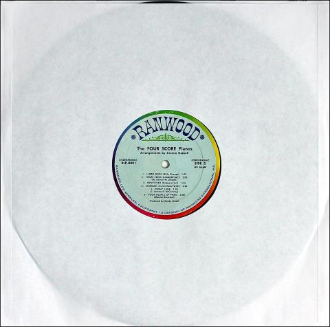"The Four Score Pianos Vinyl 12"""