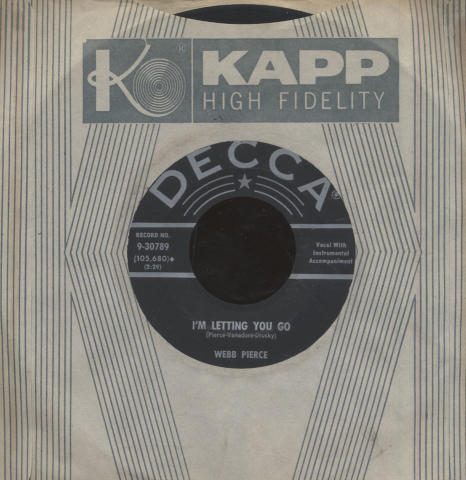 "Webb Pierce Vinyl 7"" (Used)"