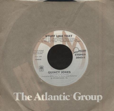 """Quincy Jones Featuring The Wattsline Vinyl 7"""" (Used)"""