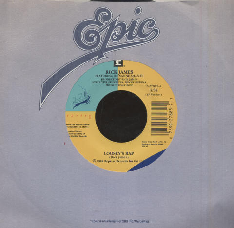 "Rick James Featuring Roxanne Shante Vinyl 7"" (Used)"